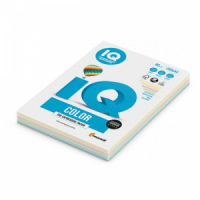 Farebný papier IQ color 5x20 mix pastelové farby, A4 160g