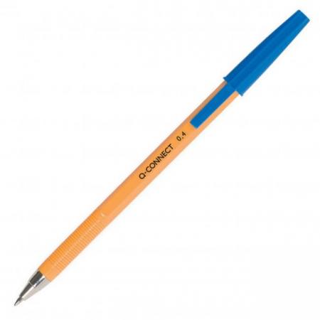 Guľôčkové pero jednorazové Q-CONNECT F modré
