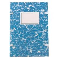 Spisové dosky A4 mramor modrý