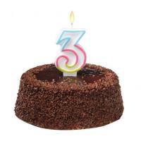 Tortová sviečka číslovka 3
