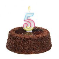 Tortová sviečka číslovka 5