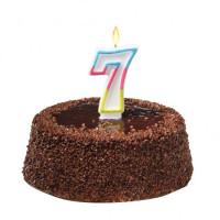 Tortová sviečka číslovka 7