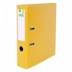 Zakladač pákový Q-connect 7,5cm žltý