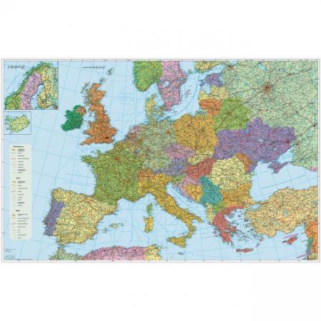 Mapa Európa-cestná sieť