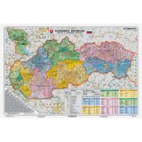 Mapa Slovensko-Kraje a...