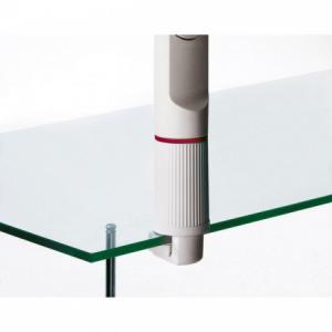 Úchyt 1 na hranu stola 0,8-6,4cm sivý