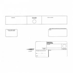 Poštové obálky C4 s páskou, doručenka, 250 ks