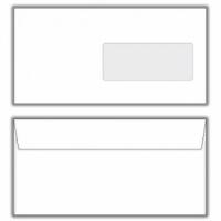 Poštové obálky DL s páskou, okienko