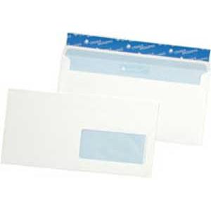 Poštové obálky DL Cygnus s páskou, okienko vpravo 500 ks