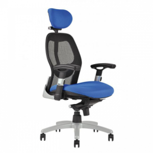 Kancelárska stolička SATURN NET modrá
