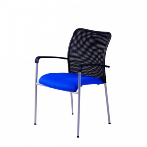 Rokovacia stolička TRITON Net modrá