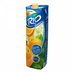 Džús RIO Fusion Pomaranč s dužinou 100% 1l