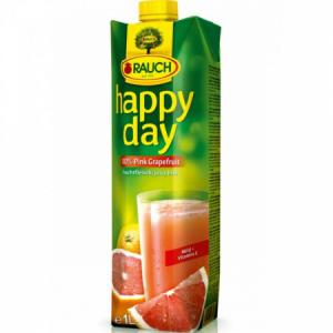 Džús Happy Day Ružový grep 100% 1l
