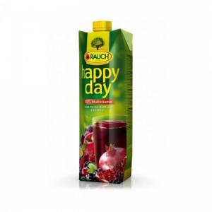 Džús Happy Day Multivitamín red fruit 100% 1l