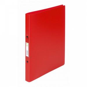 Zakladač 2-krúžkový Q-Connect celoplastový 1,6cm transparentný červený