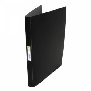 Zakladač 4-krúžkový Q-Connect celoplastový 1,6cm čierny