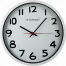 Nástenné hodiny Q-Connect 35cm strieborné