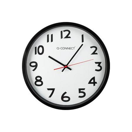 Nástenné hodiny Q-Connect 35cm čierne