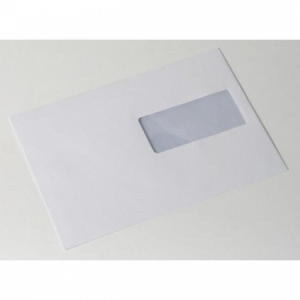 Poštové obálky C5 ELCO s páskou, okienko vpravo, 500 ks