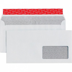 Poštové obálky C6/5 ELCO s páskou, okienko vpravo, 500 ks