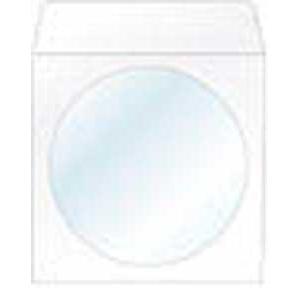 Obálky na CD 124x124 s okienkom 100 ks