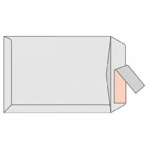 Poštové obálky C4 s páskou, biele, 25 ks