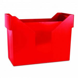 Zásobník na závesné obaly DONAU červený
