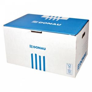 Archívna škatuľa s predným otváraním DONAU modrá