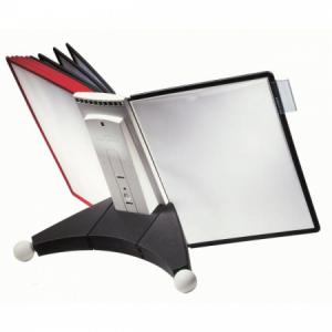 Stojan na stôl SHERPA s 10 panelmi čierno/červené