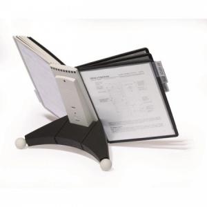 Stojan na stôl SHERPA s 10 panelmi čierna/sivá