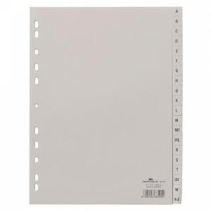 Plastový rozraďovač DURABLE A-Z sivý