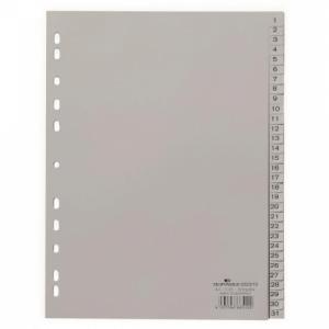 Plastový rozraďovač DURABLE 1-31 sivý