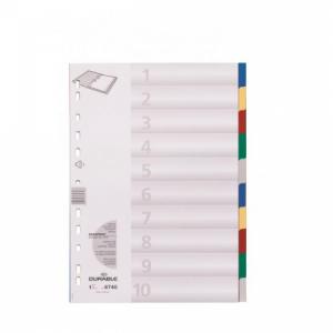 Plastový rozraďovač DURABLE 10-dielny farebný
