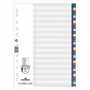 Plastový rozraďovač DURABLE 1-31 farebný