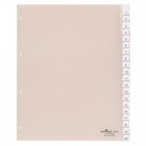 Plastový rozraďovač DURABLE s výmennými indexami 20-dielny maxi