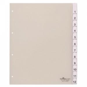 Plastový rozraďovač DURABLE s výmennými indexami 12-dielny maxi