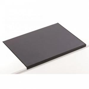 Podložka na stôl s priehľadnou fóliou a ochranou rohu 65x52cm čierna