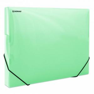 Plastový box s gumičkou DONAU priehľadný zelený