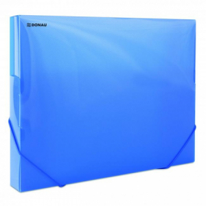 Plastový box s gumičkou DONAU priehľadný modrý