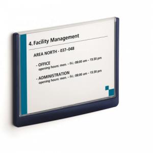 Informačná tabuľka Click Sign 210x148,5 modrá