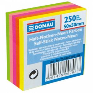 Bloček Donau v 5 neónových farbách 50x50mm