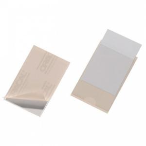 Samolepiace vrecko vizitkové s otvorom zboku DURABLE 63x94mm 10ks