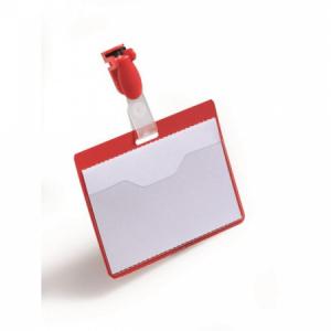 Visačka so štipcom horizontálna DURABLE 90x60mm červená 25ks