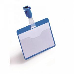 Visačka so štipcom horizontálna DURABLE 90x60mm modrá 25ks