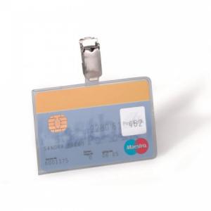Visačka na plastovú kartu so štipcom DURABLE 87x54mm 25ks