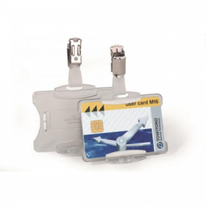 Visačka na plastovú kartu otvorená so štipcom DURABLE 85x54mm 25ks
