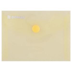 Plastový obal A7 s cvočkom DONAU žltý