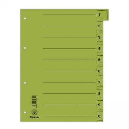 Kartónový rozraďovač DONAU odtrhávací zelený