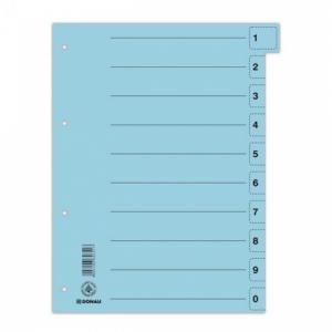 Kartónový rozraďovač DONAU odtrhávací modrý
