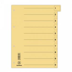 Kartónový rozraďovač DONAU odtrhávací žltý